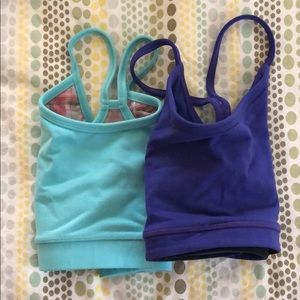 2 lululemon sports bra's.
